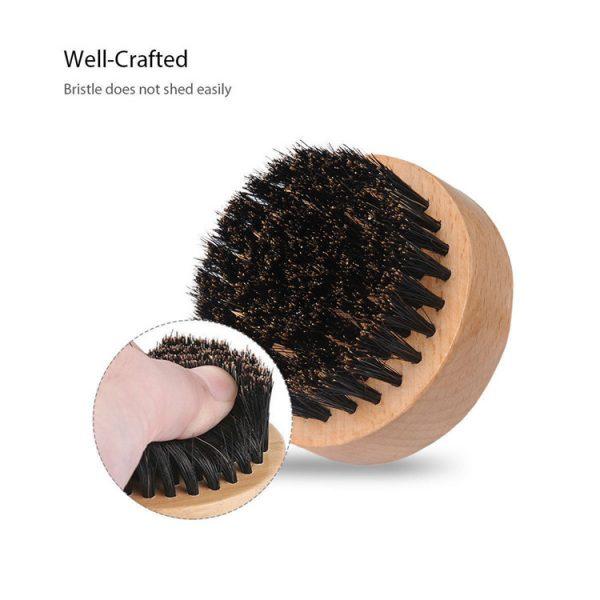 Man-beard-OEM-logo-wooden-bristle-round
